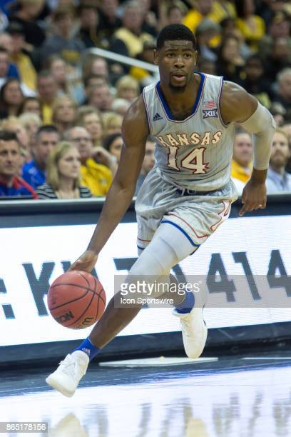 Kansas Jayhawks guard Malik Newman during the preseason Showdown for Relief college basketball game between the Missouri Tigers and the Kansas...