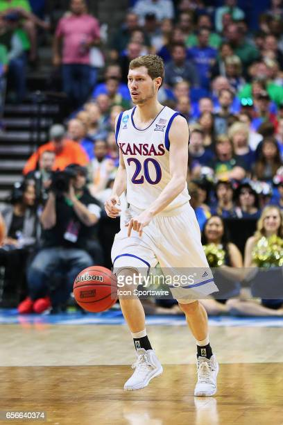 Kansas Jayhawks Guard Tyler Self advances the past over the time during the Kansas Jayhawks game versus the UC Davis Aggies in the first round of the...