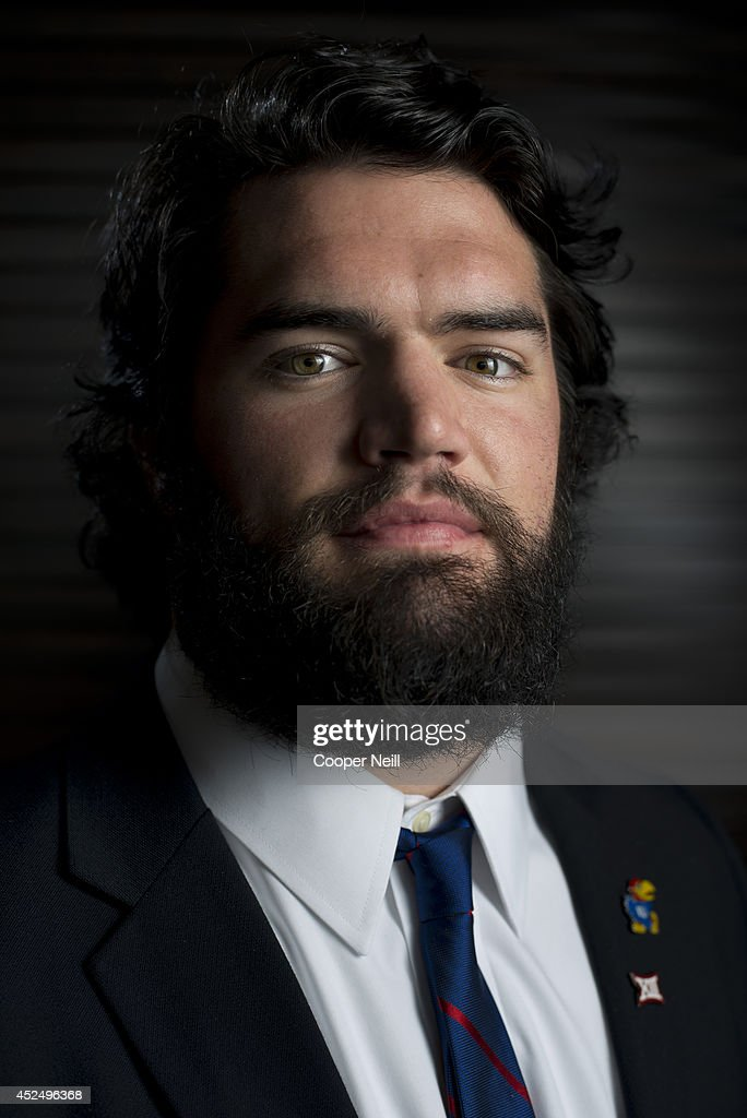 Kansas linebacker <a gi-track='captionPersonalityLinkClicked' href=/galleries/search?phrase=Ben+Heeney&family=editorial&specificpeople=9689082 ng-click='$event.stopPropagation()'>Ben Heeney</a> poses for a portrait during the Big 12 Media Day on July 21, 2014 at the Omni Hotel in Dallas, Texas.