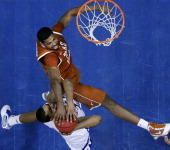 Kansas' Marcus Morris and the Jayhawks were stuffed in the second half by Tristan Thompson and the Texas Longhorns ending Kansas' 69game home win...