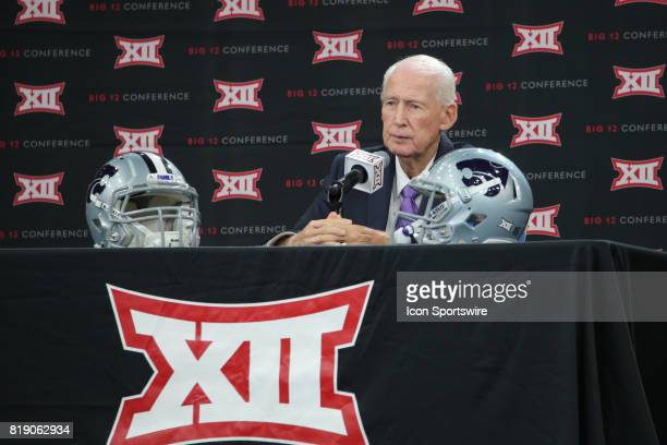 Kansas State head coach Bill Snyder speaks during the Big 12 Conference Football Media Days on July 18 2017 at Ford Center at The Star in Frisco Texas