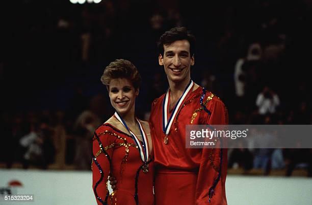 Suzanne Semanick and Scott Gregory dance Bronze Medalists at the U S Figure Skating Championships Kansas City Missouri