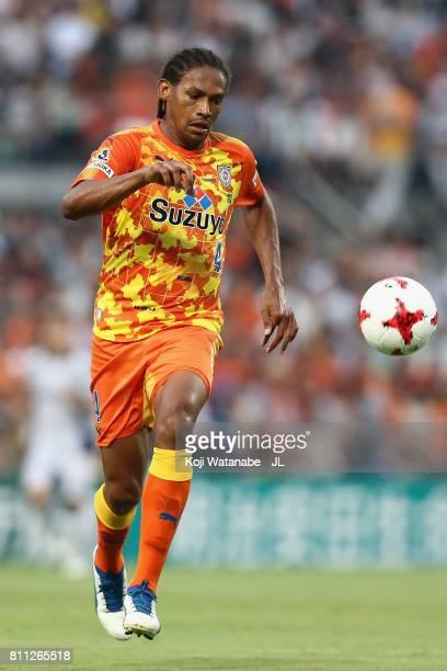 Kanu of Shimizu SPulse in action during the JLeague J1 match between Shimizu SPulse and Gamba Osaka at IAI Stadium Nihondaira on July 8 2017 in...