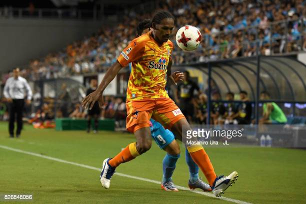 Kanu of Shimizu SPulse in action during the JLeague J1 match between Sagan Tosu and Shimizu SPulse at Best Amenity Stadium on August 5 2017 in Tosu...