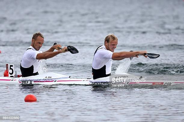 Kanusport Flachwasser Kayak Doppel double men 1000 meter Bronze für Martin Hollstein und Andreas Ihle GER Olympische Sommerspiele in London 2012...