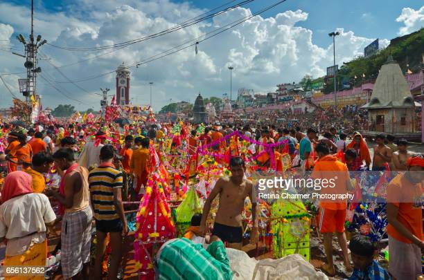Kanwad Mela In Haridwar, Uttarakhand, India