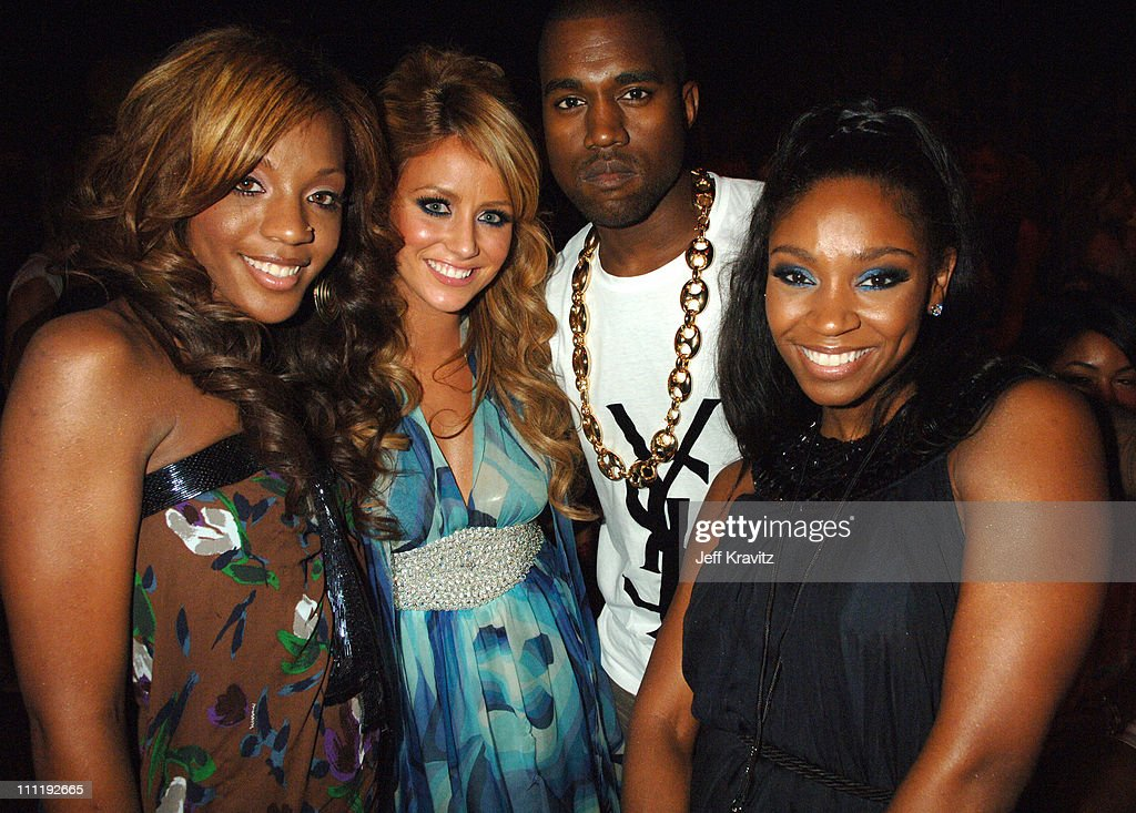 Kanye and Danity Kane during 2006 MTV Video Music Awards - Backstage at Radio City Music Hall in New York, New York, United States.