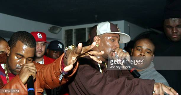 Kanye West and Camron during Camron in Concert with Special Guests Dipset and Kanye West January 4 2005 at Speed in New York City New York United...