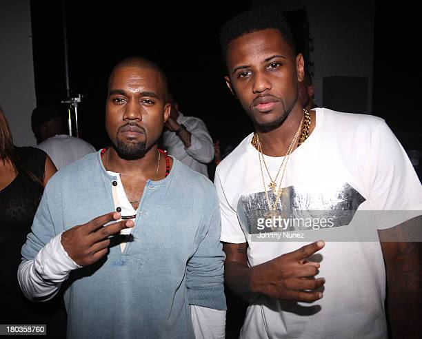 Kanye West and Fabolous attend the 'MNIMN' listening event at Industria Superstudio on September 11 2013 in New York City