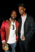 Kanye West and guest attend the Belvedere IX Launch Party featuring Justice at My House on February 5 2009 in Hollywood California