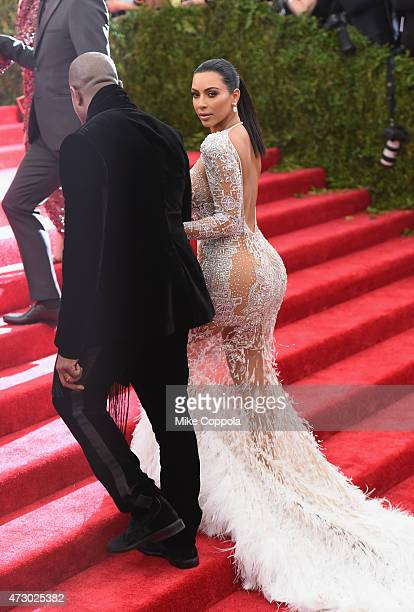 Kanye West and Kim Kardashian attend the 'China Through The Looking Glass' Costume Institute Benefit Gala at the Metropolitan Museum of Art on May 4...