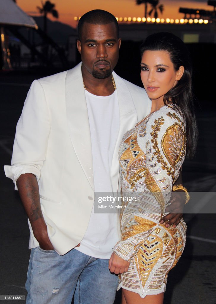 Kanye West and Kim Kardashian attend the 'Cruel Summer' presentation during 65th Annual Cannes Film Festival on May 23, 2012 in Cannes, France.