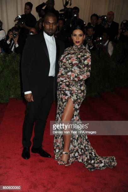 Kanye West and Kim Kardashian attends the 'Punk' Chaos to Couture' Costume Institute Benefit Met Gala at the Metropolitan Museum in New York