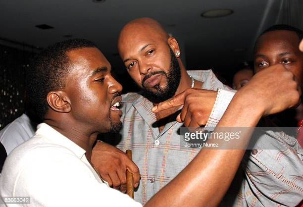 Kanye West and Suge Knight