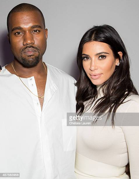 Kanye West and TV personality Kim Kardashian attend Teyana Taylor's VII listening event presented by Def Jam GOOD Music and MVD Inc at Siren Studios...