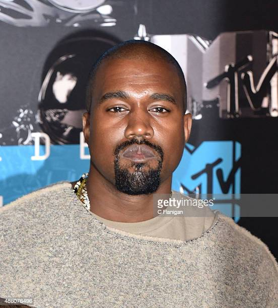 Kanye West arrives to the 2015 MTV Video Music Awards at Microsoft Theater on August 30 2015 in Los Angeles California