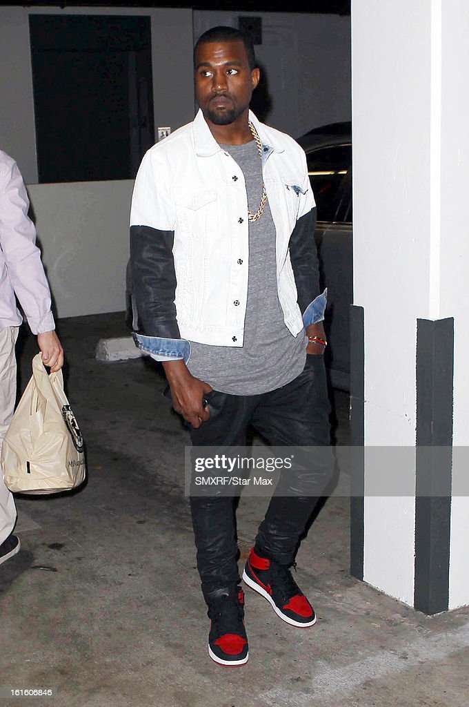 Kanye West as seen on February 12, 2013 in Los Angeles, California.
