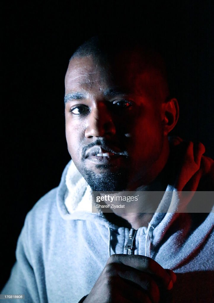 Kanye West attends his album listening party at Milk Studios on June 10, 2013 in New York City.