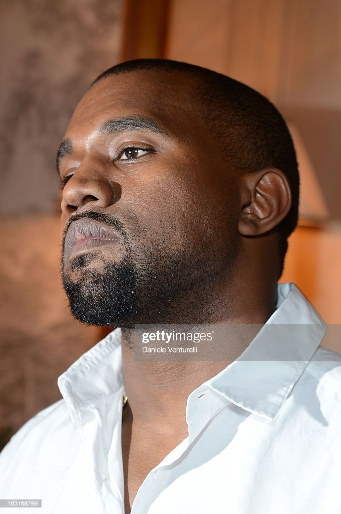Kanye West attends the 'CR Fashion Book Issue 2' - Carine Roitfeld Cocktail as part of Paris Fashion Week at Hotel Shangri-La on March 5, 2013 in Paris, France.