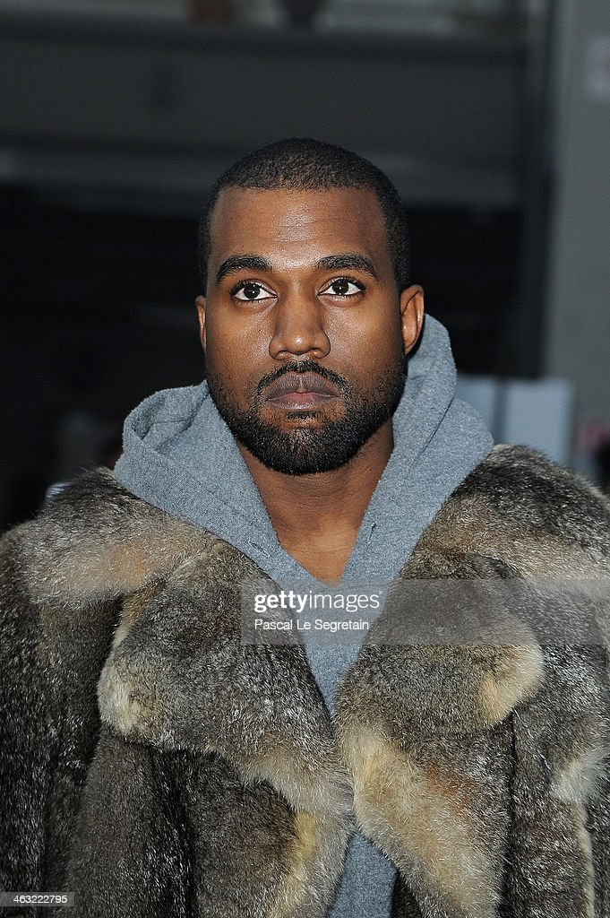 Kanye West attends the Givenchy Menswear Fall/Winter 2014-2015 Show as part of Paris Fashion Week on January 17, 2014 in Paris, France.