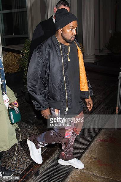 Kanye West attends the Kendall Kylie launch event on February 8 2016 in New York City