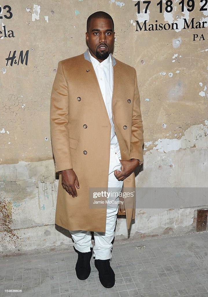 <a gi-track='captionPersonalityLinkClicked' href=/galleries/search?phrase=Kanye+West+-+Musician&family=editorial&specificpeople=201803 ng-click='$event.stopPropagation()'>Kanye West</a> attends the Maison Martin Margiela with H&M global launch event at 5 Beekman on October 23, 2012 in New York City.