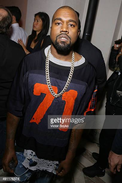 Kanye West attends Vogue 95th Anniversary Party on October 3 2015 in Paris France
