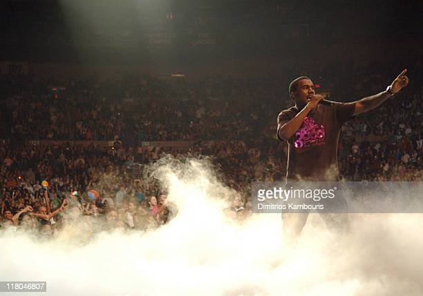 Kanye West during Z100's Jingle Ball 2005 Show at Madison Square Garden in New York City New York United States