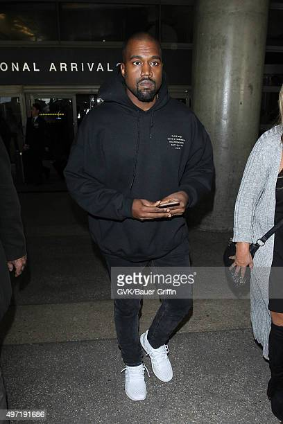 Kanye West is seen at LAX on November 14 2015 in Los Angeles California