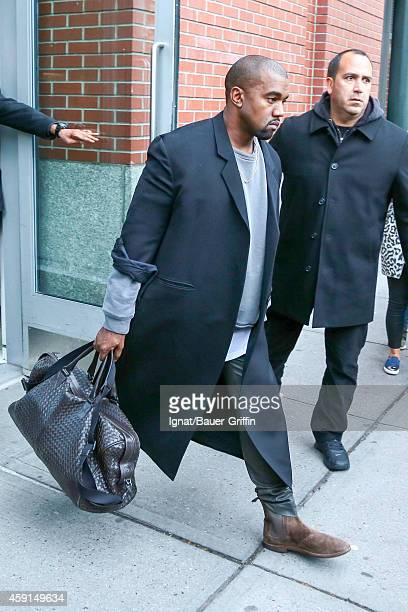 Kanye West is seen in New York City on November 07 2014 in New York City