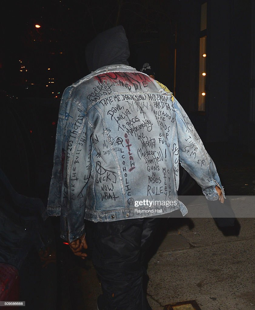 Kanye West is seen in Soho on February 11, 2016 in New York City.