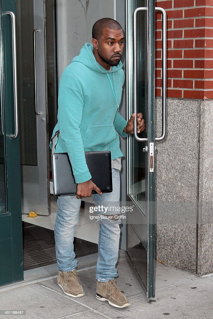 <a gi-track='captionPersonalityLinkClicked' href=/galleries/search?phrase=Kanye+West+-+Musician&family=editorial&specificpeople=201803 ng-click='$event.stopPropagation()'>Kanye West</a> is seen leaving his apartment on NOVEMBER 21, 2013 in New York City.