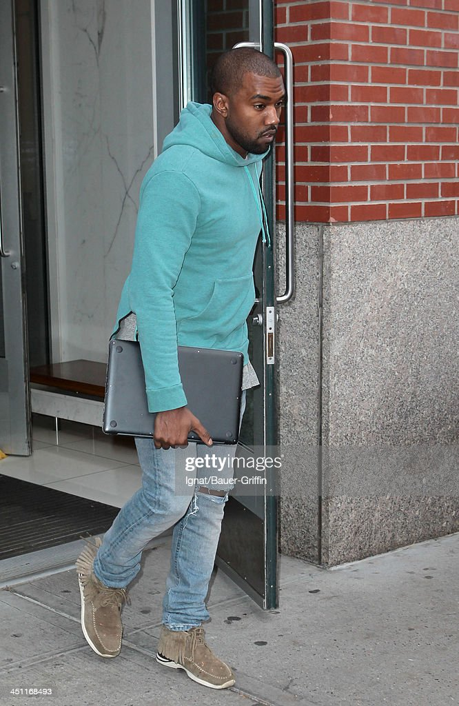 Kanye West is seen leaving his apartment on NOVEMBER 21, 2013 in New York City.