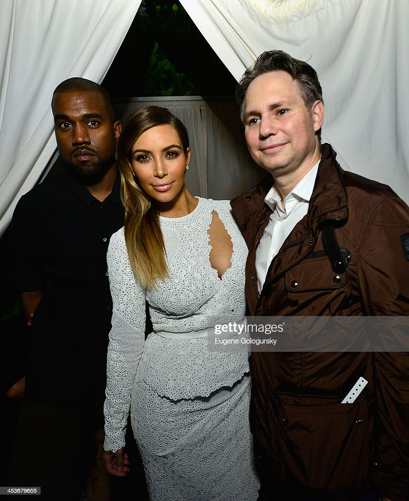 <a gi-track='captionPersonalityLinkClicked' href=/galleries/search?phrase=Kanye+West+-+Musician&family=editorial&specificpeople=201803 ng-click='$event.stopPropagation()'>Kanye West</a>, <a gi-track='captionPersonalityLinkClicked' href=/galleries/search?phrase=Kim+Kardashian&family=editorial&specificpeople=753387 ng-click='$event.stopPropagation()'>Kim Kardashian</a>, and <a gi-track='captionPersonalityLinkClicked' href=/galleries/search?phrase=Jason+Binn&family=editorial&specificpeople=204684 ng-click='$event.stopPropagation()'>Jason Binn</a> attend DuJour Magazine's event to honor artist Marc Quinn at Delano South Beach Club on December 4, 2013 in Miami Beach, Florida.