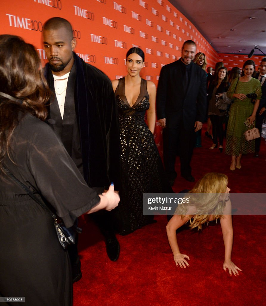 Kanye West, Kim Kardashian West and Amy Schumer attend TIME 100 Gala, TIME's 100 Most Influential People In The World at Jazz at Lincoln Center on April 21, 2015 in New York City.