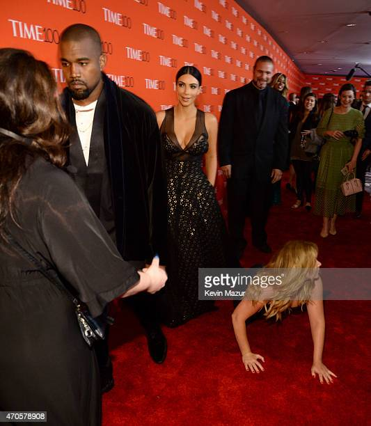 Kanye West Kim Kardashian West and Amy Schumer attend TIME 100 Gala TIME's 100 Most Influential People In The World at Jazz at Lincoln Center on...