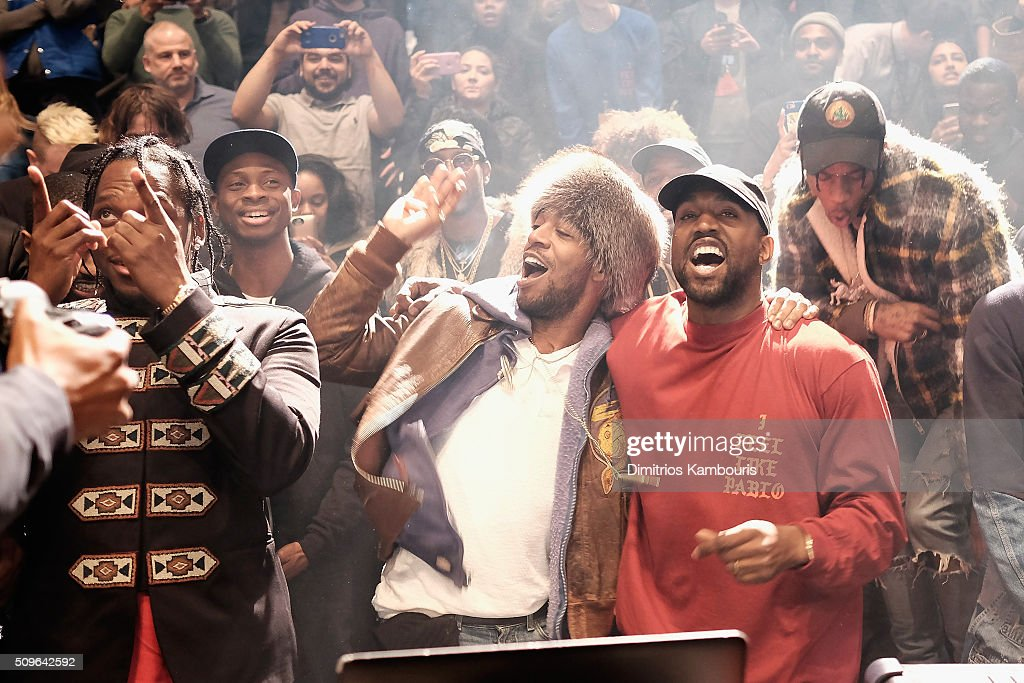 <a gi-track='captionPersonalityLinkClicked' href=/galleries/search?phrase=Kanye+West+-+Musician&family=editorial&specificpeople=201803 ng-click='$event.stopPropagation()'>Kanye West</a> performs during <a gi-track='captionPersonalityLinkClicked' href=/galleries/search?phrase=Kanye+West+-+Musician&family=editorial&specificpeople=201803 ng-click='$event.stopPropagation()'>Kanye West</a> Yeezy Season 3 on February 11, 2016 in New York City.
