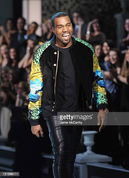 Kanye West performs during the 2011 Victoria's Secret Fashion Show at the Lexington Avenue Armory on November 9 2011 in New York City