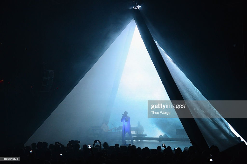 Kanye West performs onstage at the Adult Swim Upfront Party 2013 at Roseland Ballroom on May 15, 2013 in New York City. 23698_002_0243.JPG
