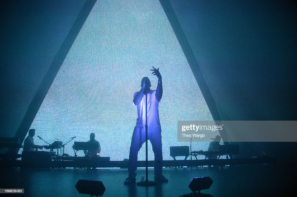Kanye West performs onstage at the Adult Swim Upfront Party 2013 at Roseland Ballroom on May 15, 2013 in New York City. 23698_002_0205.JPG