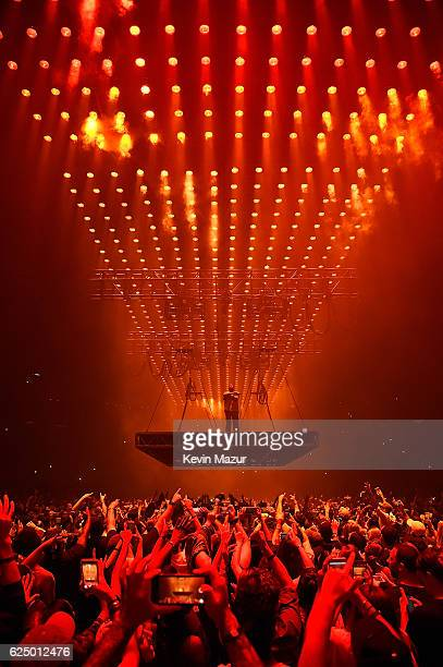 Kanye West performs onstage during his 'Saint Pablo' tour at Madison Square Garden on September 6 2016 in New York City