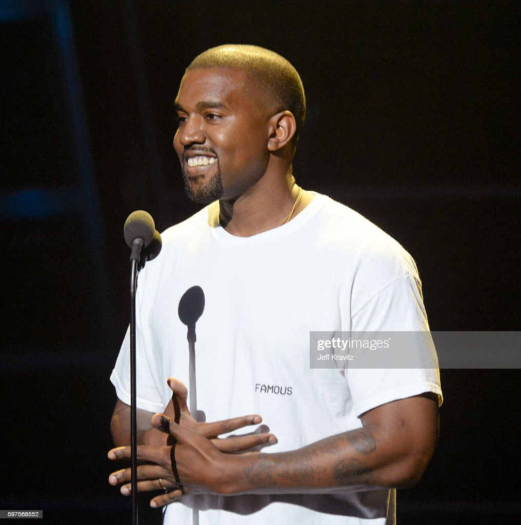 Kanye West speaks onstage during the 2016 MTV Video Music Awards at Madison Square Garden on August 28, 2016 in New York City.