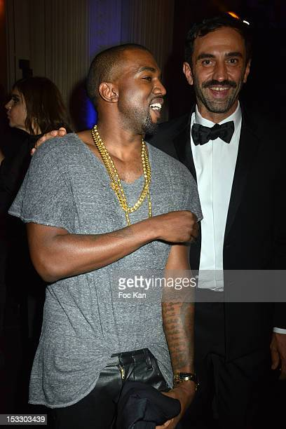 Kanye WestÊand Riccardo Tisci attend LE BAL hosted by MAC and Carine Roitfeld as part of Paris Fashion Week Spring / Summer 2013 at Hotel Salomon de...