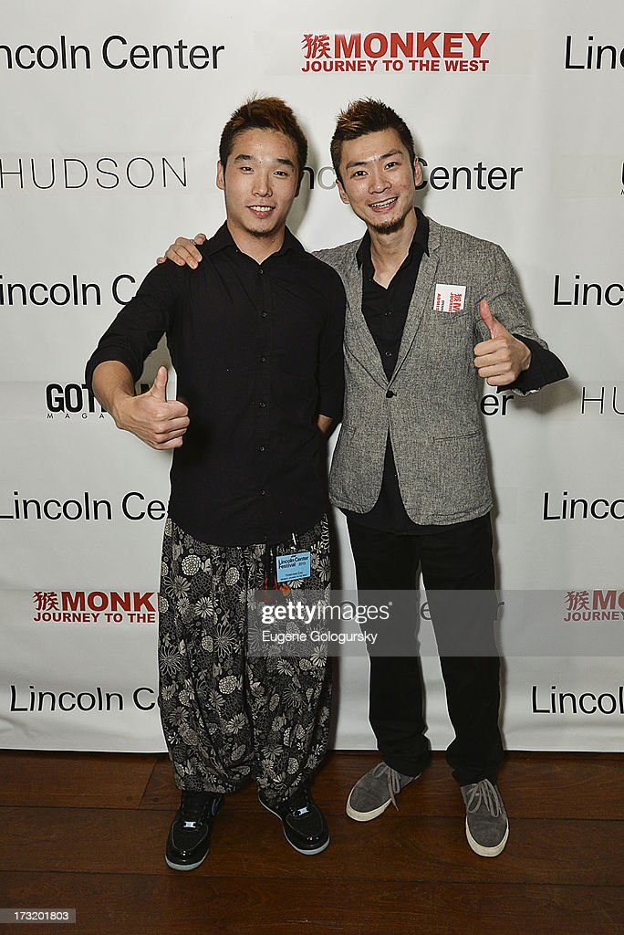 Kao Yang Yang and Wang Lu attend the Lincoln Center Festival And Gotham Magazine Celebration of Monkey: Journey To The West at Hudson on July 9, 2013 in New York City.