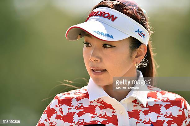 Kaori Aoyama of Japan looks on during the first round of the World Ladies Championship Salonpas Cup at the Ibaraki Golf Club on May 5 2016 in...