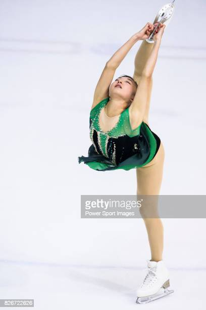 Kaori Sakamoto of Japan competes in Senior Ladies group during the Asian Open Figure Skating Trophy 2017 on August 05 2017 in Hong Kong Hong Kong