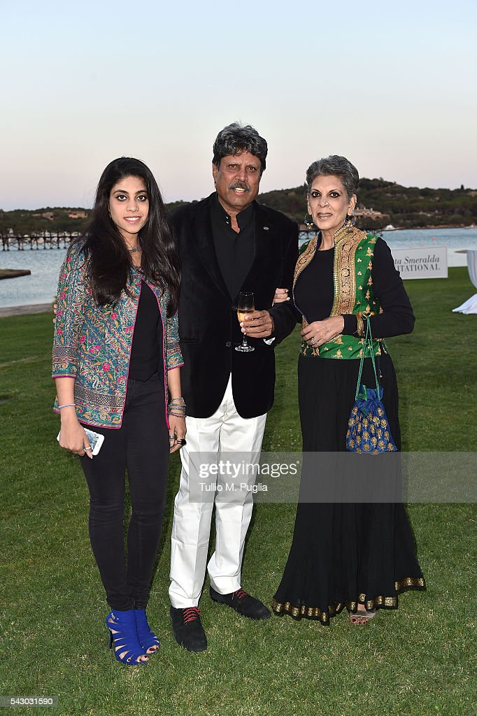 Kapil Dev, Adhisaya Manithan and Amiya Dev attend the Gala Dinner during The Costa Smeralda Invitational golf tournament at Pevero Golf Club - Costa Smeralda on June 25, 2016 in Olbia, Italy.