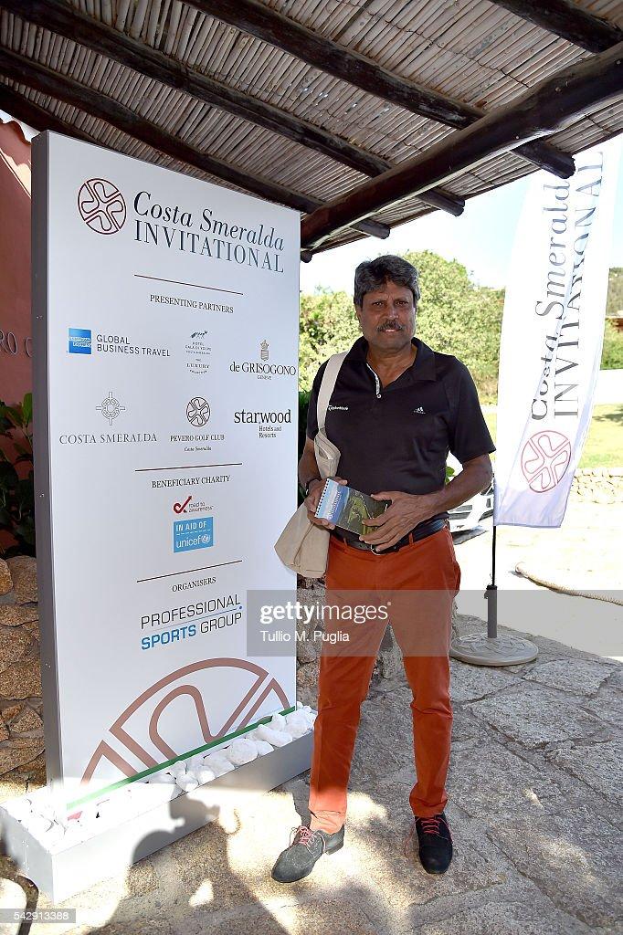 Kapil Dev arrives at The Costa Smeralda Invitational golf tournament at Pevero Golf Club - Costa Smeralda on June 25, 2016 in Olbia, Italy.