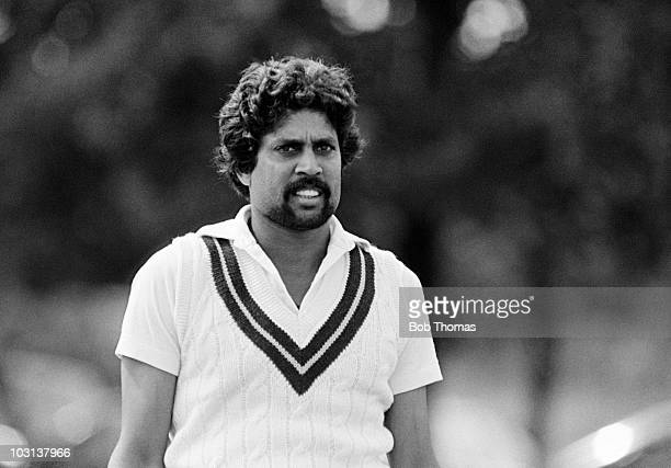 Kapil Dev fielding for Northamptonshire during a John Player League match against Derbyshire at Milton Keynes 15th August 1982 Northamptonshire won...