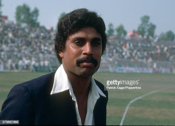 Kapil Dev of India during the 2nd Test match between Pakistan and India at Lahore Pakistan 27th October 1978
